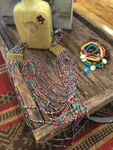 Load image into Gallery viewer, Hot summer color multi bead necklace