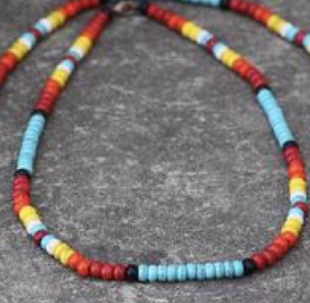 Tribal single strand necklace