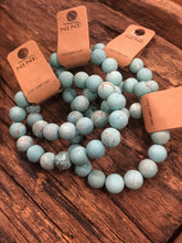 Load image into Gallery viewer, Stone turquoise stretch bracelet