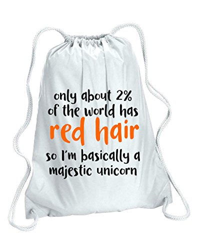 Only About Two Percent Of The World Has Red Hair So I'm A Majestic Unicorn Gym Bag - White