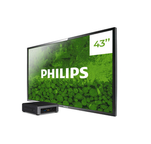 PACK BETTER monitor profesional Philips Q-Line BDL4330QL/00 + player Intel NUC i3