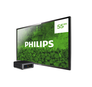 PACK BEST monitor profesional Philips Q-Line BDL5530QL/00 + player Intel NUC i3