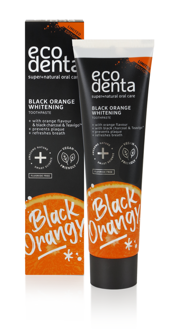 ecodenta black orange whitening toothpaste