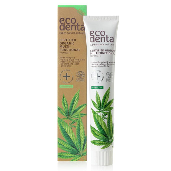 Dentifrice multifonctionnel ECODENTA BIO à l'huile de chanvre 75 ml - Pharma Bio Univers Paris