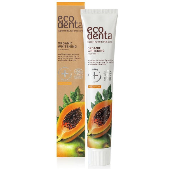 ECODENTA COSMOS ORGANIC Dentifrice blanchissant à l'extrait de papaye, 75 ml - Pharma Bio Univers Paris