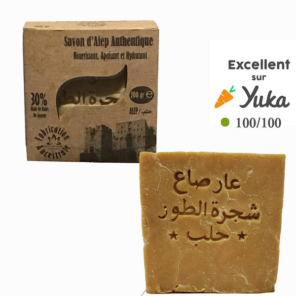 savon d'alep authentique yuka