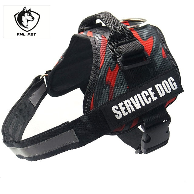 FML Pet Hot Sale Reflective Rope Nylon Handle Adjustable 16Colors Large Dog Harness For Small Medium Large Dog Animals