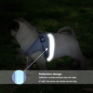 Dog Cat Harness Vest Reflective Walking Lead Leash for Puppy Dogs Polyester Mesh Harness for Small Medium Dog Pet Products