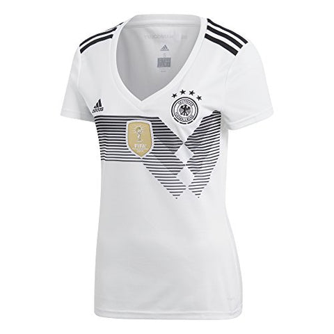 adidas Germany Womens 2018 Home Soccer Jersey - White-Black - WS
