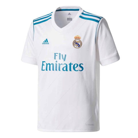 adidas Real Madrid Youth Home Soccer Jersey - White - YXL