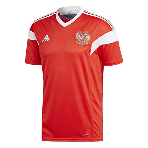 adidas Russia Mens Home 2018 Soccer Jersey - Red - L