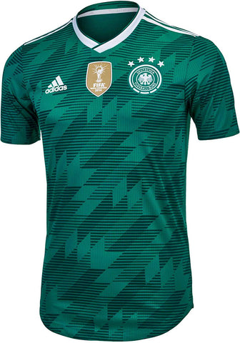 adidas Germany Mens Authentic 2018 Away Jersey - Green - XL