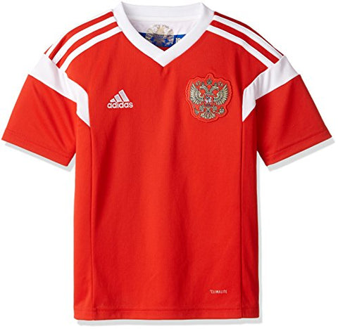adidas Russia Youth RFU Home Soccer Jersey - Red - YL