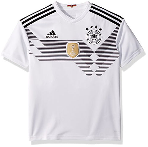 adidas Germany Youth 2018 Home Jersey - White-Black - YL - Youth Large