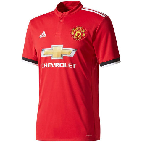 adidas Manchester United 2017-18 Home Soccer Jersey - Red - L