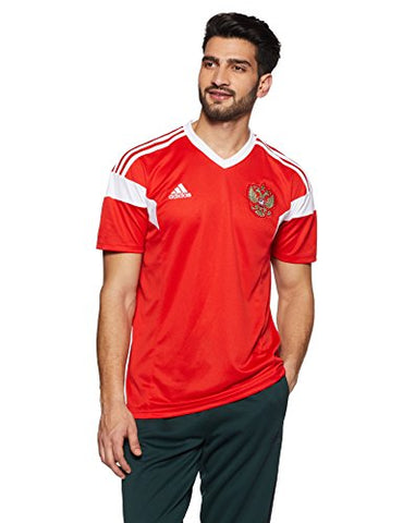 adidas Russia Mens Home 2018 Soccer Jersey - Red - XL