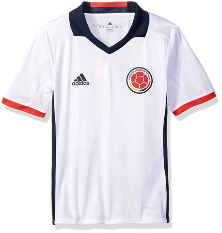 adidas Columbia Youth Soccer Jersey - White - YL