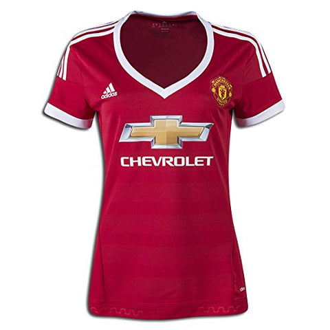 adidas Manchester United Womens Home Soccer Jersey - Red - WS