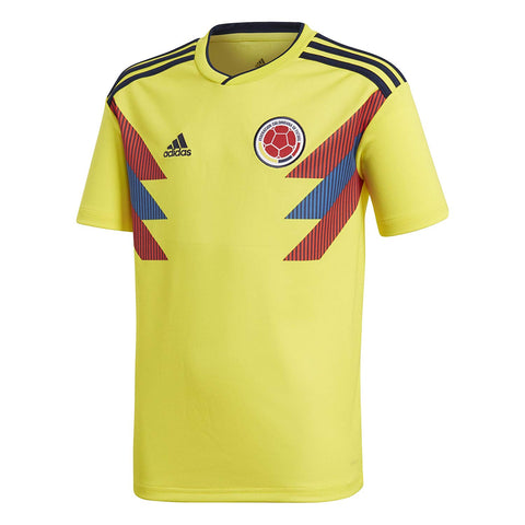 adidas Columbia Youth 2018 Home Soccer Jersey - Yellow - YL