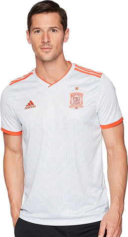 adidas Spain Mens 2018 Away Soccer Jersey - White - XL