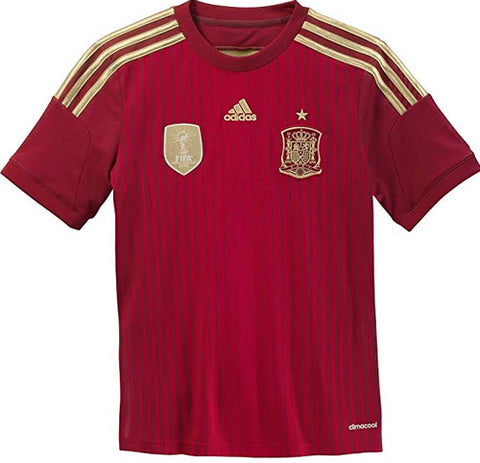 adidas Spain Mens Home Soccer Jersey - Red - XL