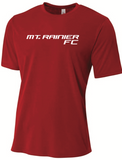 Mt Rainier A4 SS Tee - Red - Fan Gear