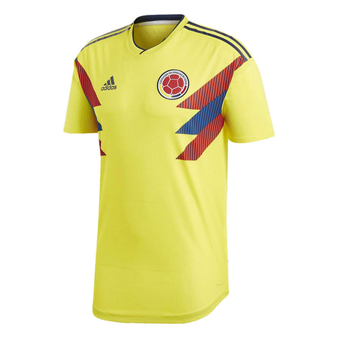 adidas Columbia Mens 2018 Authentic Home Soccer Jersey - Yellow - XL