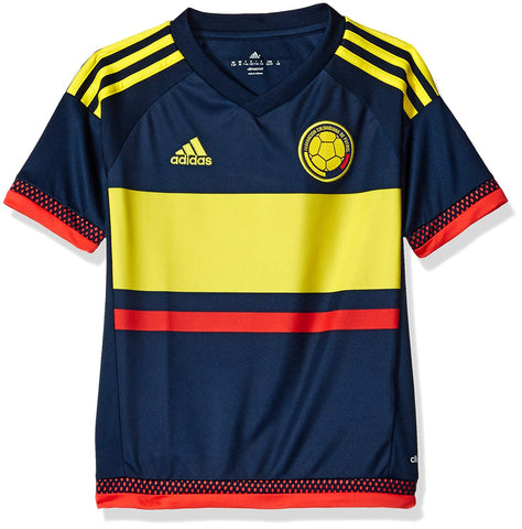 adidas Columbia Youth Soccer Jersey - Navy - YS