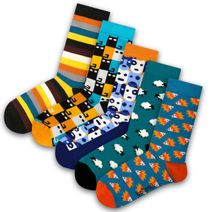 Novelty Bundle (5 Socks Pack, Small Size)
