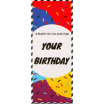 Birthday Socks Card / Sunset