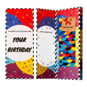 Happy Birthday Socks Card / Sunset