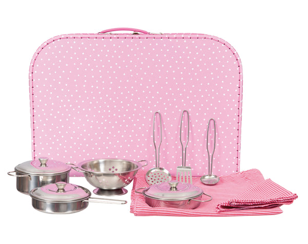 Tea Set - Pink Polka Dot