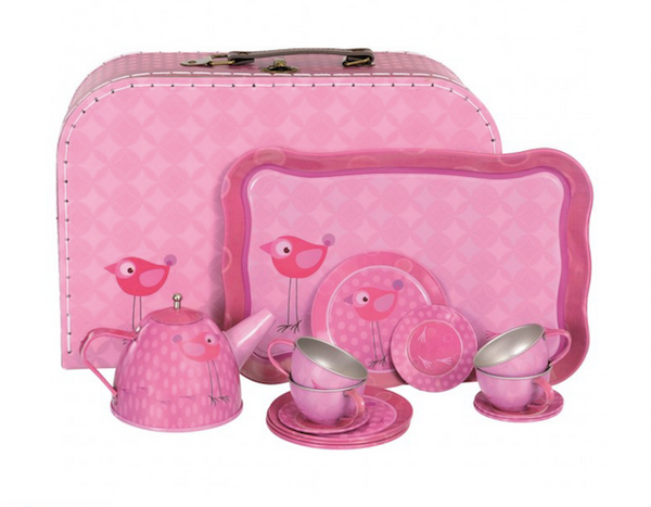 Tea Set - Pink Bird