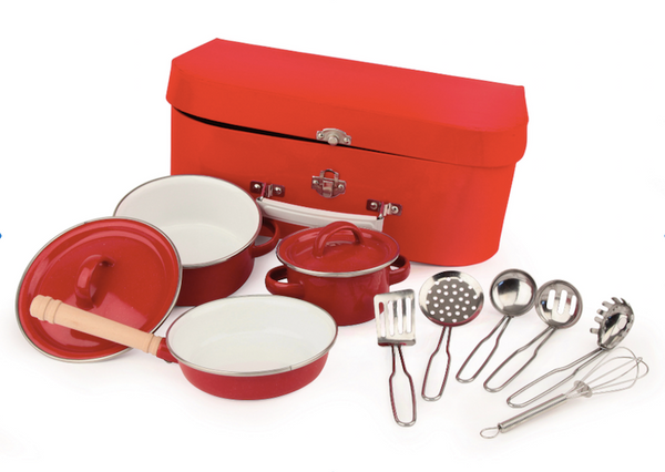Play Set - Red Pots & Pans