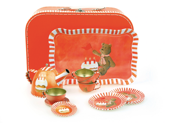 Tea Set - Red Bear design