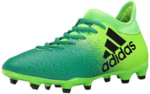 reputable site 3858a d1abb adidas Men s X 16.3 Firm Ground Cleats Soccer Shoe, Solar Black Core Green,