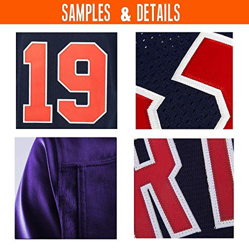 28f4bdbbd62 ... Custom Purple Mesh Personalized Football Jerseys Embroidered Team Name  and Your Numbers. Next slide