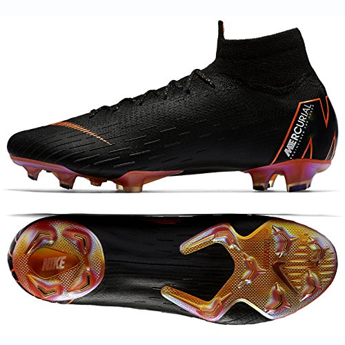 4567dcf1f94 NIKE Mercurial Superfly 6 Elite FG AH7365-081 Black White Orange Socce –  Killer Cleats
