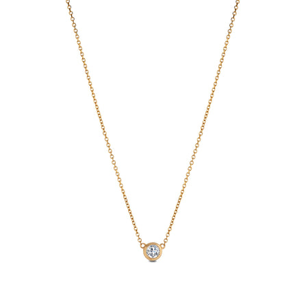 Diamond Dew Drop Pendant in 14K Yelow Gold