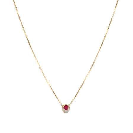 Ruby Pendant in 14K Yellow