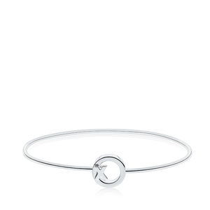XO Bangle Bracelet in Sterling Silver