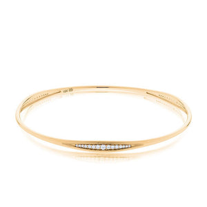 Pas de Trois Diamond Triple-Station Bangle in 14K Yellow Gold