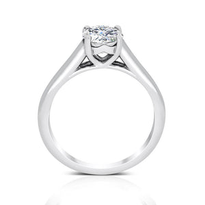 Ritani 1ct Round CZ 4-Prong Solitaire Semi-Mount Engagement Ring