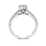 Ritani .48ct Round CZ Center Stone Diamond Shank Semi-Mount Engagement Ring