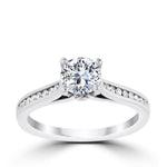 Ritani .75ct Round CZ Center Diamond Channel Setting Semi-Mount Engagement Ring