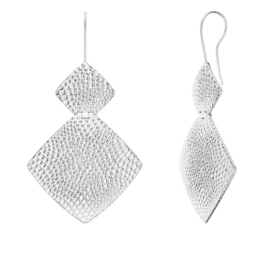 Hammered Finish Dynamic Dangle Earrings