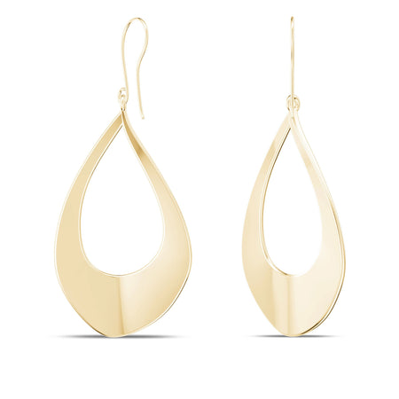 Hollowed Teardrop Dangle Earring