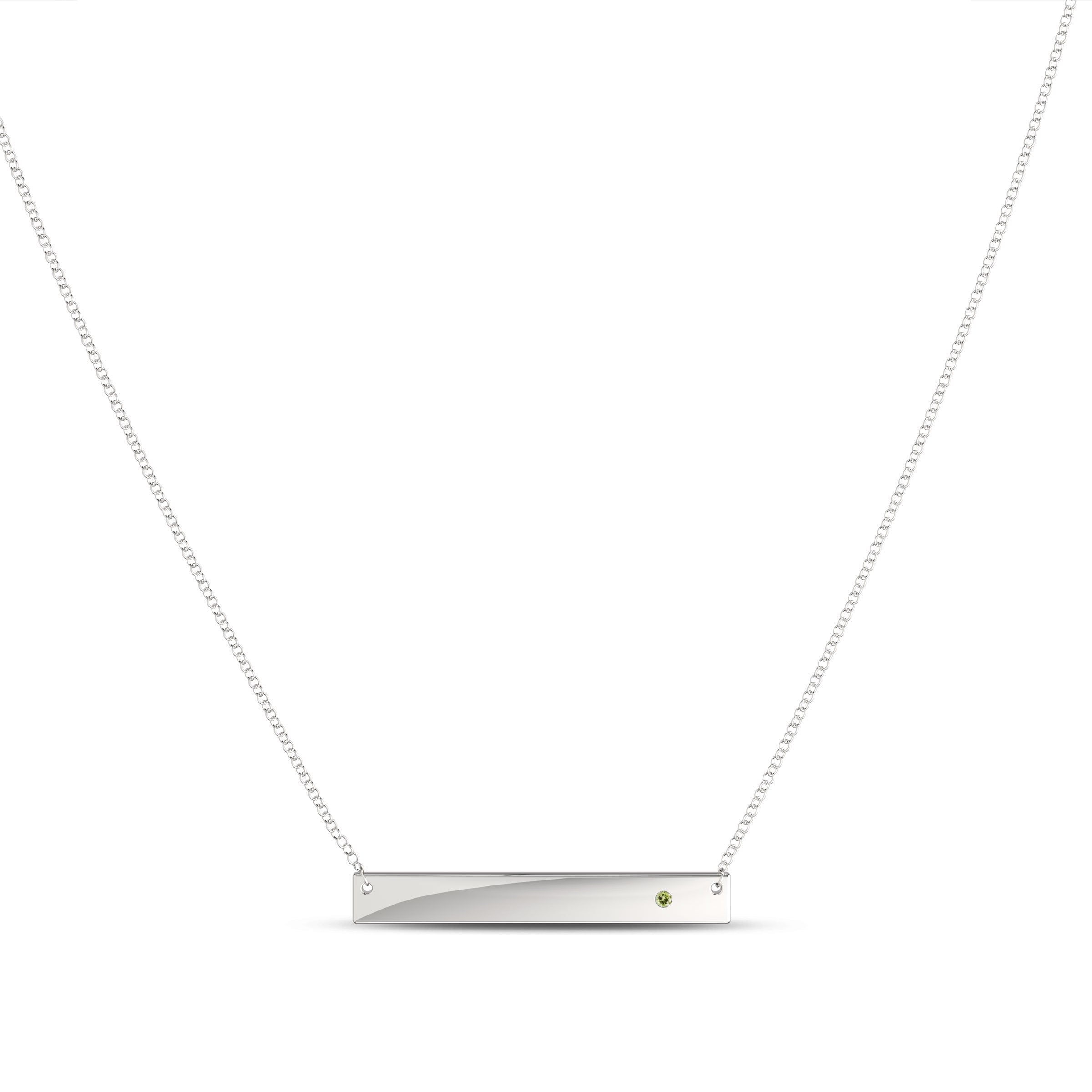 Gemstone Bar Pendant