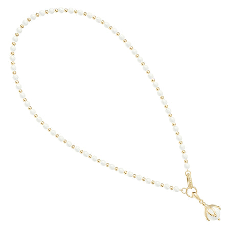 Threaded Pearl Diamond Pendant