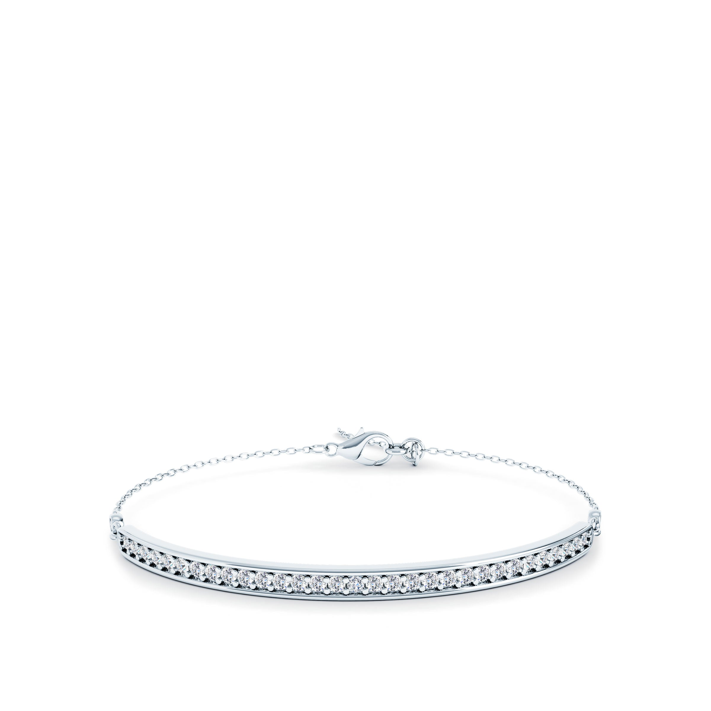 1/2 Carat Diamond Bar Bracelet
